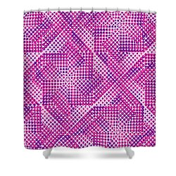 Dotty Shower Curtain by Louisa Knight