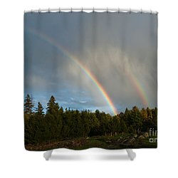 Double Blessing Shower Curtain by Cheryl Baxter