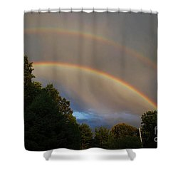 Double Rainbow Shower Curtain by Science Source