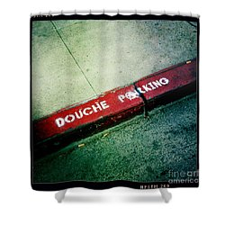 Douche Parking Shower Curtain by Nina Prommer