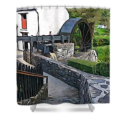 Shower Curtain featuring the photograph Down To The Mill by Charlie and Norma Brock