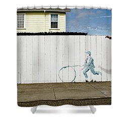 Downhill Buddy Shower Curtain