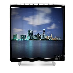 Downtown Miami At Night Shower Curtain by Carsten Reisinger