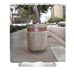 Shower Curtain featuring the photograph Downtown San Diego by Lola Connelly