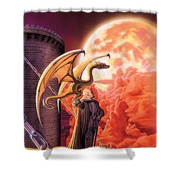 Dragon Lord Shower Curtain by The Dragon Chronicles - Robin Ko