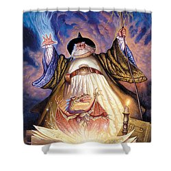 Dragon Spell Shower Curtain by The Dragon Chronicles