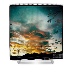 Shower Curtain featuring the photograph Drama In The Sky by Nina Prommer
