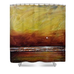 Drama Ocean Shower Curtain by Toni Grote