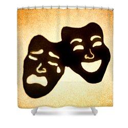 Drama Shower Curtain by Tony Cordoza