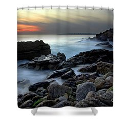 Dramatic Coastline Shower Curtain by Carlos Caetano