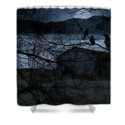 Dreadful Silence Shower Curtain by Lourry Legarde