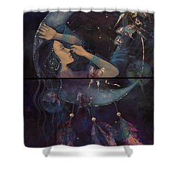 Dream Catcher Shower Curtain by Dorina  Costras