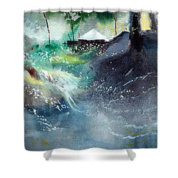Dream House 2 Shower Curtain by Anil Nene