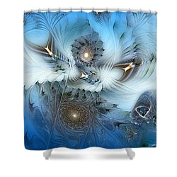 Shower Curtain featuring the digital art Dream Journey by Casey Kotas