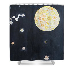 Shower Curtain featuring the painting Dream by Sonali Gangane