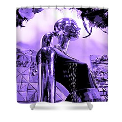 Dreams In Shades Of Purple Shower Curtain by Kym Backland