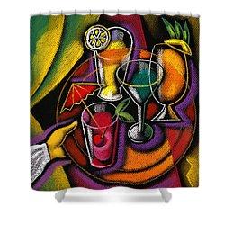 Drinks Shower Curtain by Leon Zernitsky