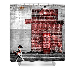 Drive Shower Curtain by Skip Hunt