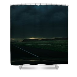 Driving Rain Number One Shower Curtain