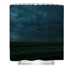 Shower Curtain featuring the photograph Driving Rain Number Two by Lon Casler Bixby