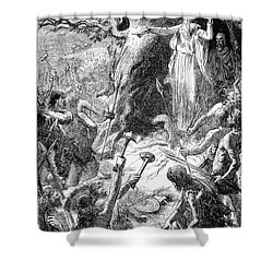 Druids And Britons Shower Curtain by Granger