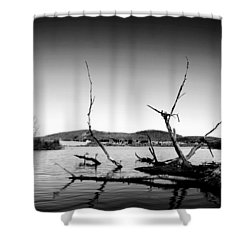 Dryden Lake New York Shower Curtain by Paul Ge