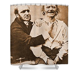 Duchenne Studying Physiognomy Shower Curtain by Science Source