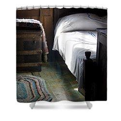 Shower Curtain featuring the photograph Dudley Farmhouse Interior No. 1 by Lynn Palmer