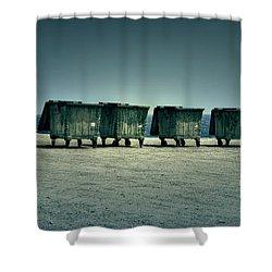 Dumpster Shower Curtain by Joana Kruse