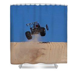 Dune Buggy Jump Shower Curtain