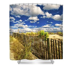 Dune Fence Me In Shower Curtain