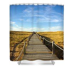 Dune Walkway Shower Curtain by Carlos Caetano