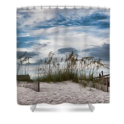 Dunes And Fence Shower Curtain
