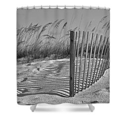 Dunes With Fence Shower Curtain