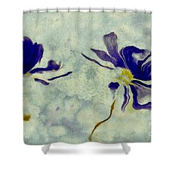 Duo Daisies Shower Curtain by Variance Collections