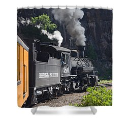 Durango And Silverton Historic Train Shower Curtain by Stuart Wilson and Photo Researchers