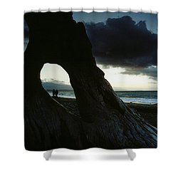 Dusk At Dungeness Shower Curtain by Rick Frost