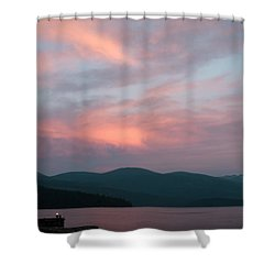 Dusk At Priest Lake Shower Curtain by David Patterson