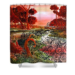 Dusk Shower Curtain by Ayan  Ghoshal