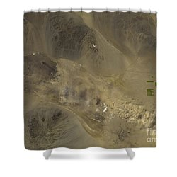Dust Storm In Southern California Shower Curtain by Nasa