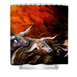 Dust Storm Shower Curtain