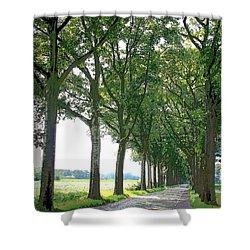 Dutch Road - Digital Painting Shower Curtain by Carol Groenen