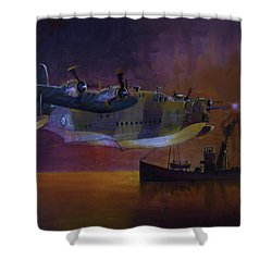 Duty Done Shower Curtain by Ray Agius