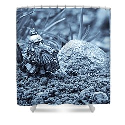 Dwarf Lost In The Enchanted Forest Shower Curtain by Marc Garrido