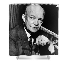 Shower Curtain featuring the photograph Dwight D Eisenhower - President Of The United States Of America by International  Images