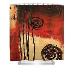 Dynamic Red 1 Shower Curtain