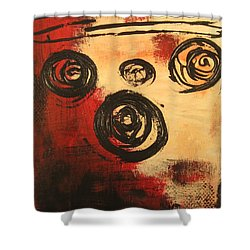 Dynamic Red 2 Shower Curtain