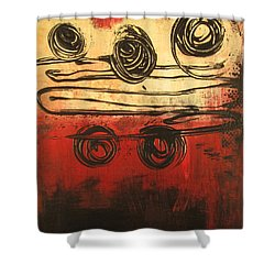 Dynamic Red 3 Shower Curtain