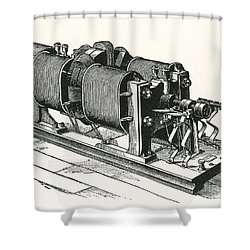 Dynamo Electric Machine Shower Curtain by Science Source
