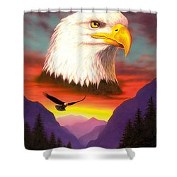 Eagle Shower Curtain by MGL Studio - Chris Hiett